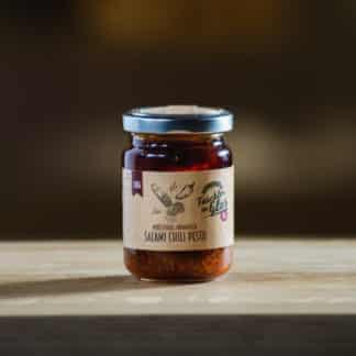Salami Chili Pesto 130g Taschler im Glas