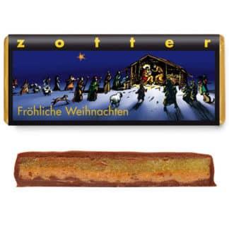 """Zotter """"Fröhliche Weihnachten"""" Gewürzmarzipan 70g"""