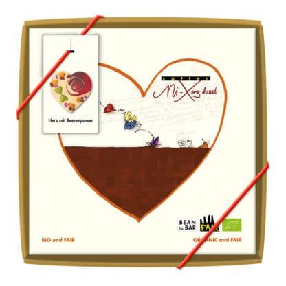 Herz mit Beerenpower Mi-Xing bar