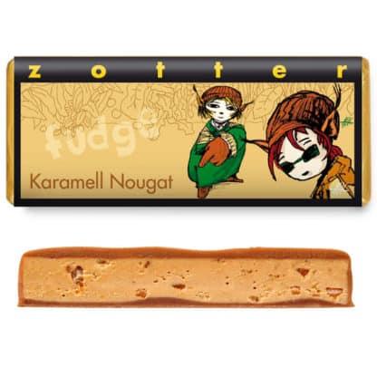 """Zotter """"Karamell Nougat fudge"""" 70g"""