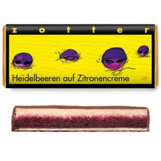"""Zotter """"Heidelbeeren auf Zitronencreme"""" 70g"""
