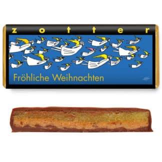 """Zotter """"Fröhliche Weihnachten"""" 70g"""